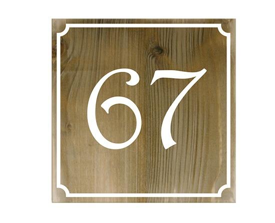 Huisnummerbordjes Steigerhout