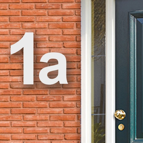Huisnummers acryl wit
