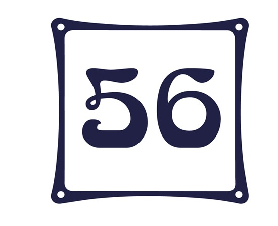Huisnummerbordjes Emaille look