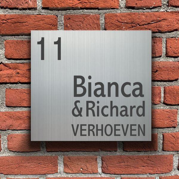 Huisnummerbordjes met naam