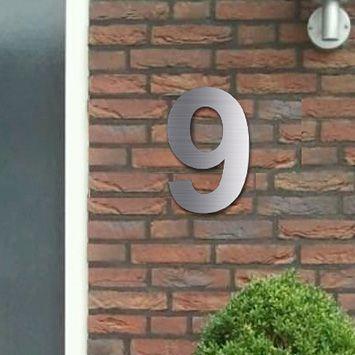 Huisnummers RVS