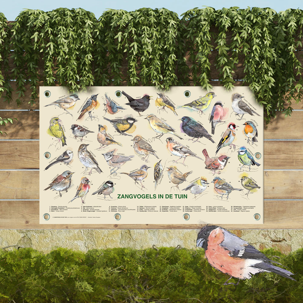 Tuinposters zangvogels in de tuin