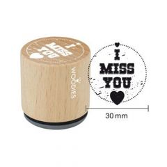 "Houten handstempel ""Woodies"" 
