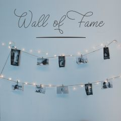 Woonkamer muursticker Wall of Fame