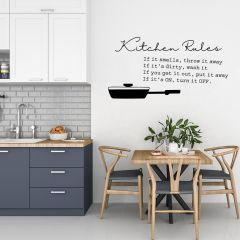 Pakkende keuken muursticker Kitchen Rules