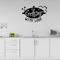 Muursticker Cooking with love