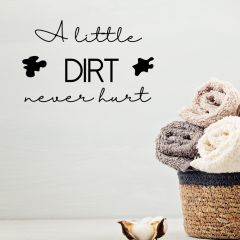 Wasruimte muursticker A little dirt