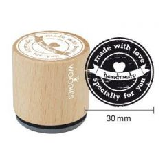 "Handmade stempel Houten handstempel ""Woodies"" 